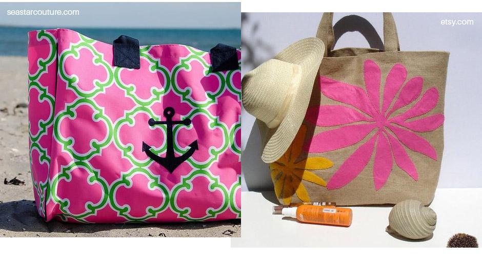 Bolsa Em Tecido Para Praia : Bolsas para praia em tecido bolsa de chita azul