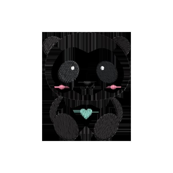Famosos Ursinho Panda | Bordados de Coração JC43