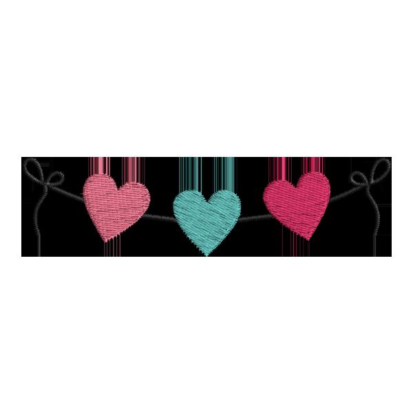 Matriz De Bordado Grátis - Corações